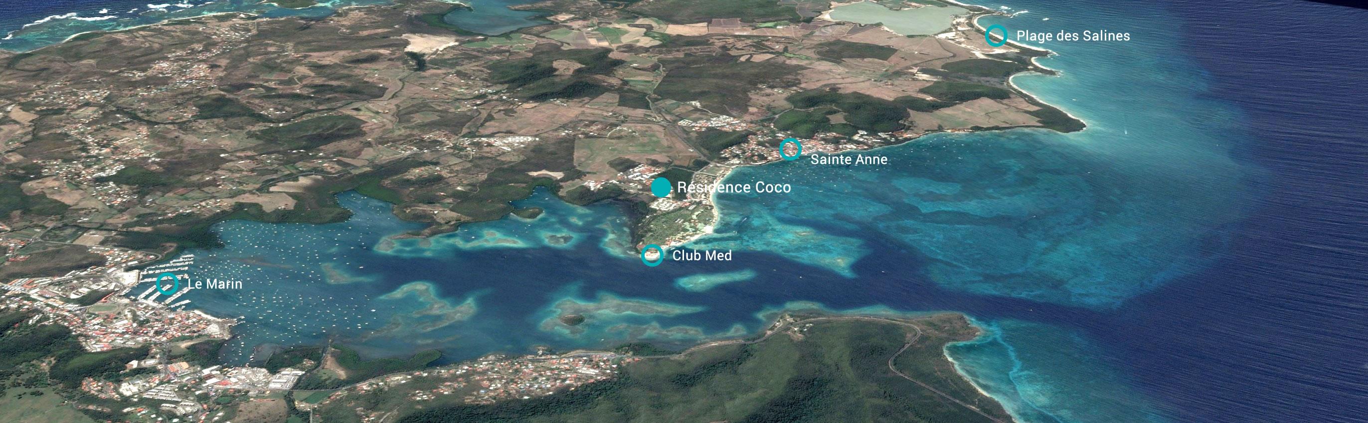 Situation géographique de la résidence COCO